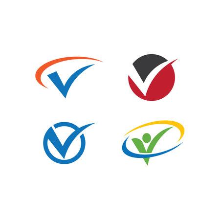 V Letter template vector illustration design