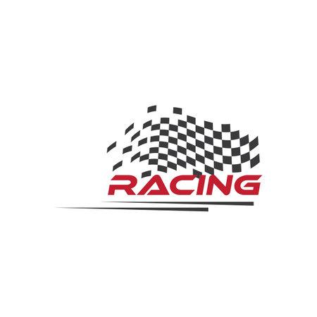 Race flag   vector template Ilustracja