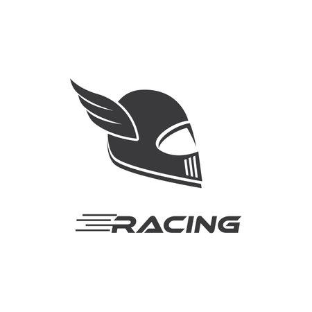 Motorcycle helmet   vector design Ilustracja