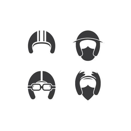 Motorcycle helmet logo vector design