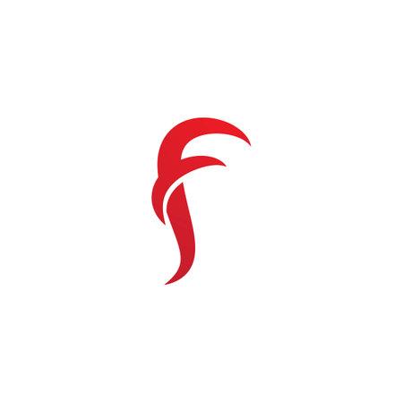 F initial letter fire vector design Ilustracja