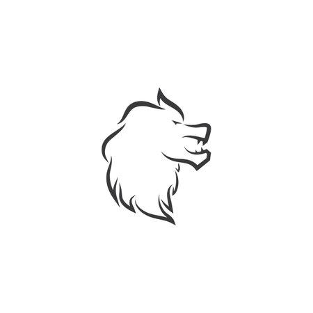 Lion head logo vector template