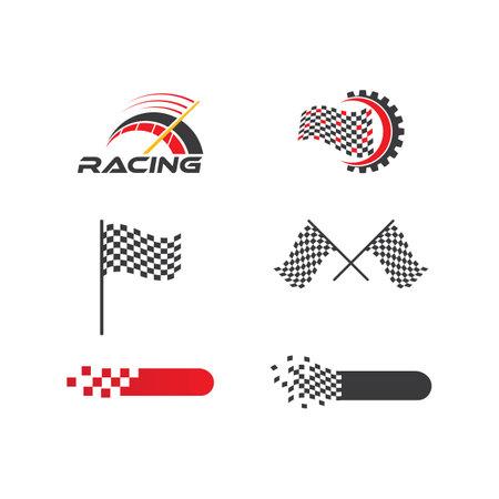 Racing  logo set vector template Ilustracja