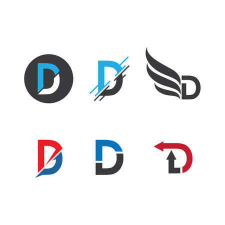 D letter logo vector design Ilustracja