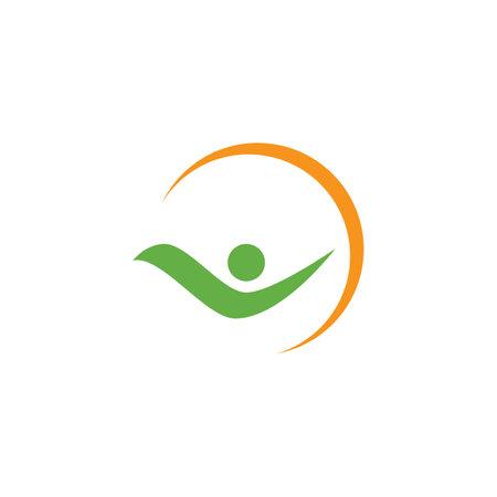 Healthy Life people logo template vector design