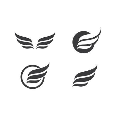 Wing illustration logo vector design Ilustracja