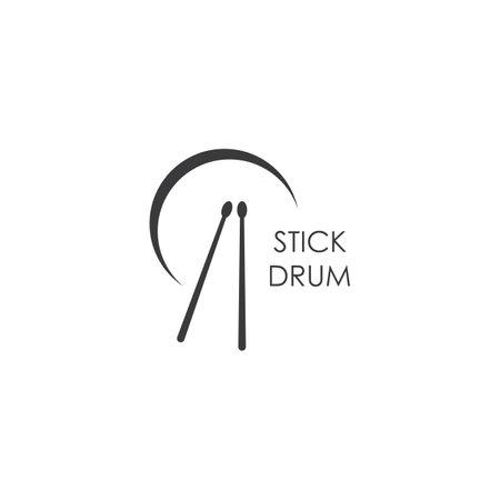 Drum stick icon vector design Ilustracja