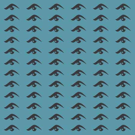 Eye seamless pattern vector design Ilustracja