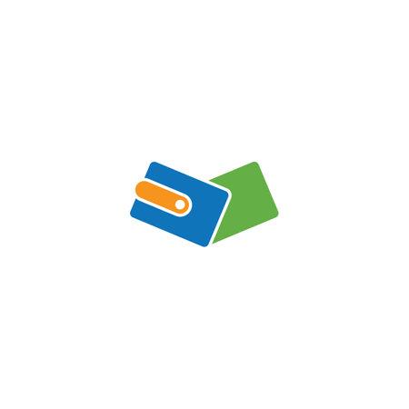 Business wallet  logo vector design