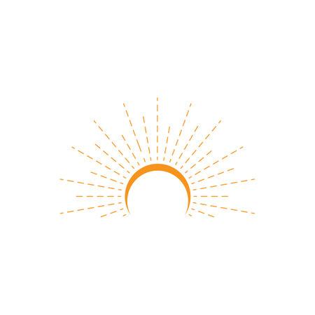 Sunburst logo vector icon template