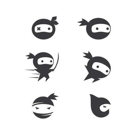 Ninja illustration logo vector template