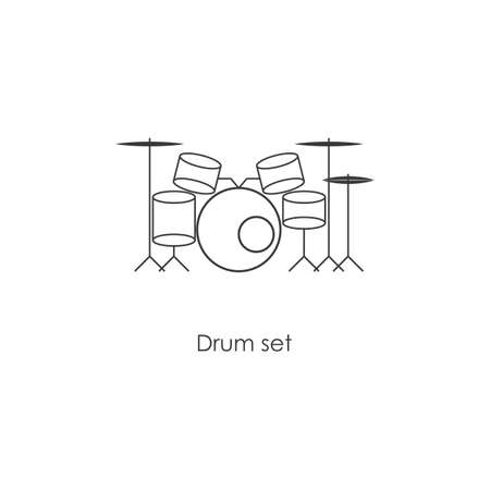 Drum set icon vector design Ilustracja