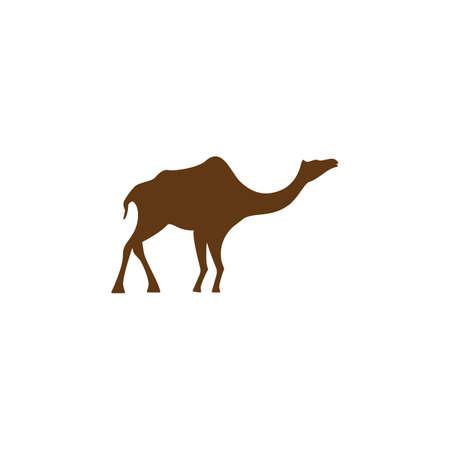 Camel illustration logo vector design