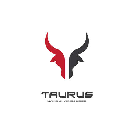 Taurus logo template vector design illustration 矢量图像