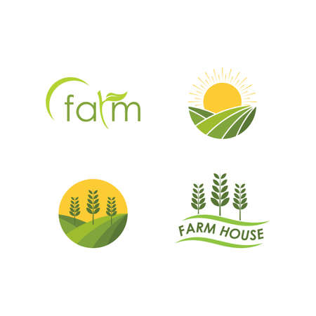 Farm house logo vector icon template Ilustração