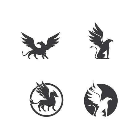 Griffin logo illustration vector design Ilustração