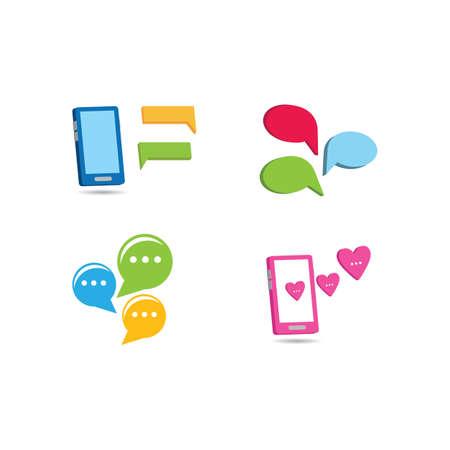 Speech bubble icon vector design Ilustração