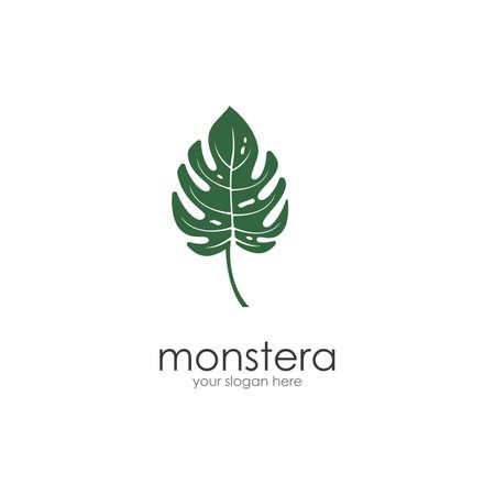 Monstera leaf logo vector design Ilustração