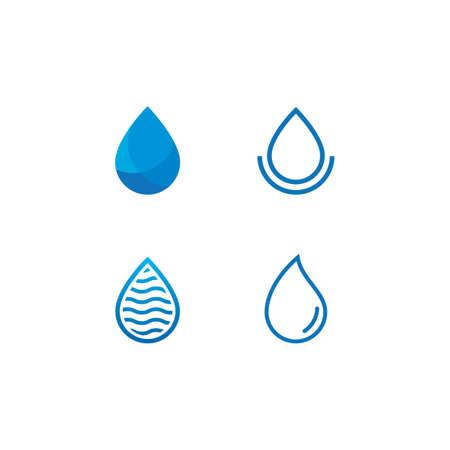 Water drop Logo template vector design Ilustração