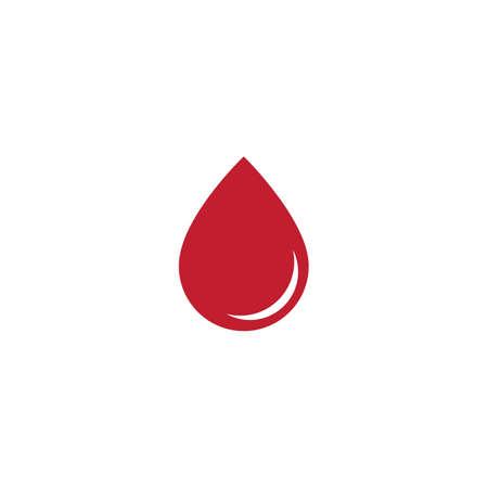 Blood ilustration logo vector template