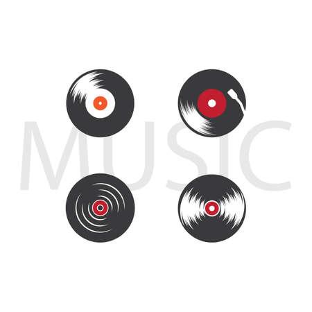 Vinyl music icon vector design