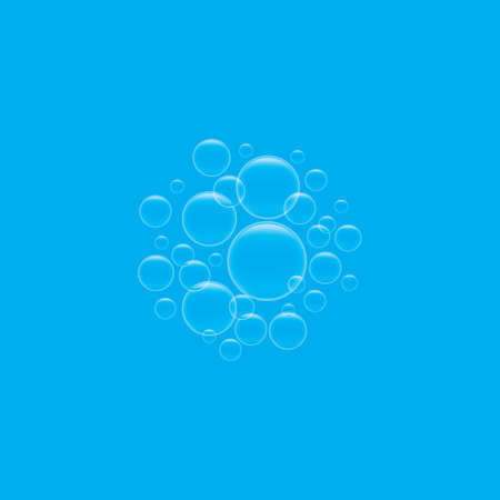 Natural realistic bubble illustration vector design