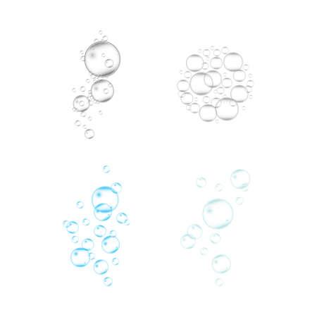 Natural realistic bubble illustration vector design