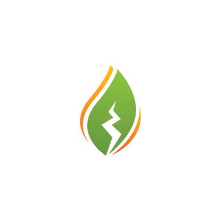 Eco energy vector illustration logo template