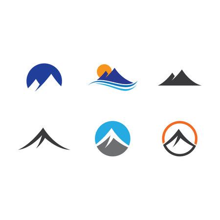 Mountains Logo Template vector design
