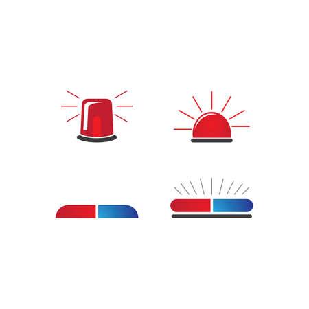 Siren icon flat design vector