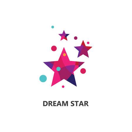Dreams star vector design