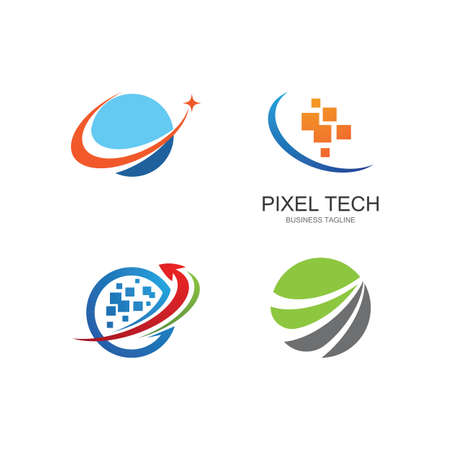 Global technology vector template 일러스트