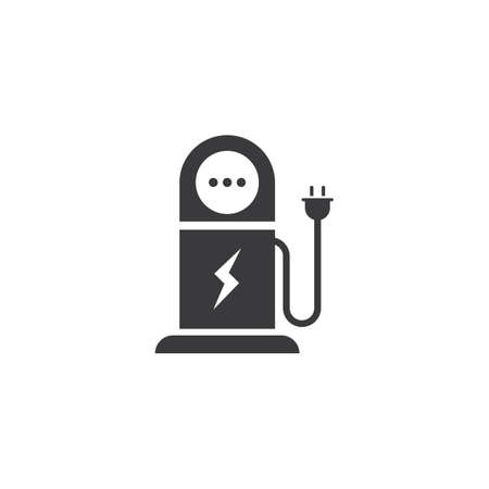 Electrical charging station vector icon