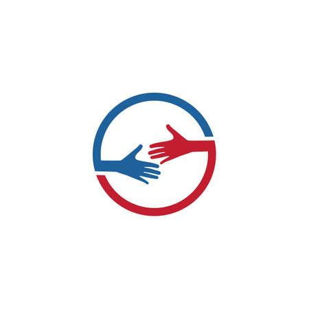 Hand care template vector design