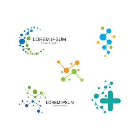 Molecule  illustration vector template