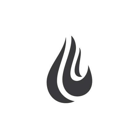 Fire flame illustration vector Template Çizim
