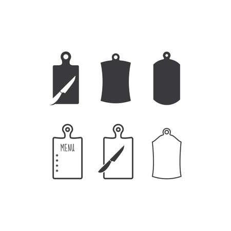 Cutting board icon flat design vector