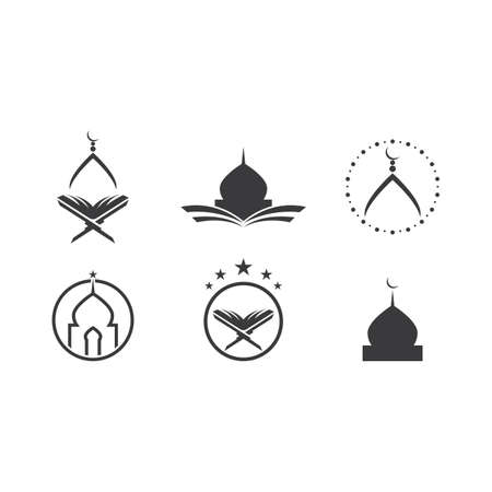 Islamic   hand pray and mosque Çizim