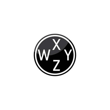 Modern WXYZ Initial letter alphabet font   vector design Çizim