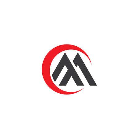 A initial ,M letter logo vector flat desig Çizim