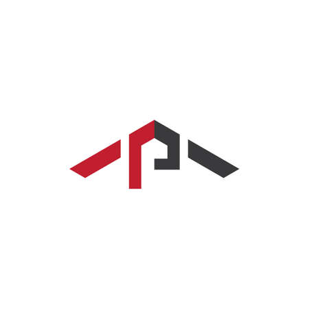 P letter logo vector template Çizim