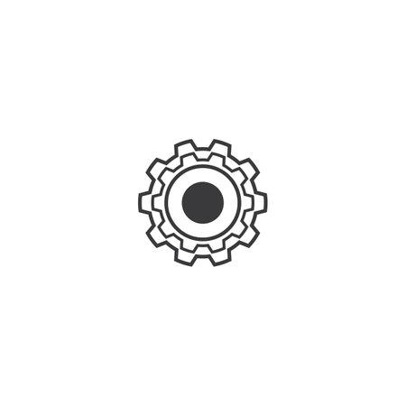 Gear technology logo vector illustration design Çizim