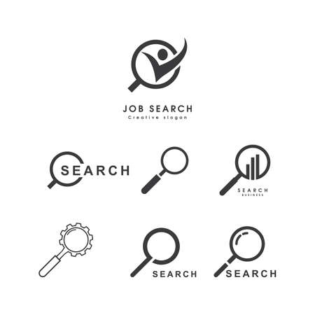 Search engine logo vector flat design