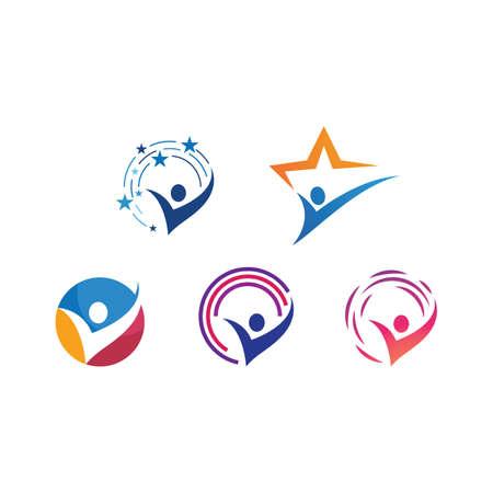Success people illustration logo template