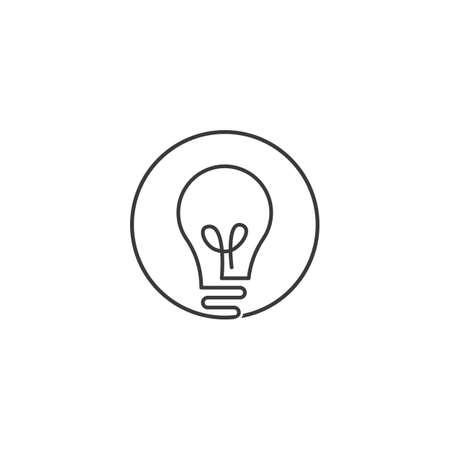 Bulb technology ilustration logo vector design Stock Illustratie