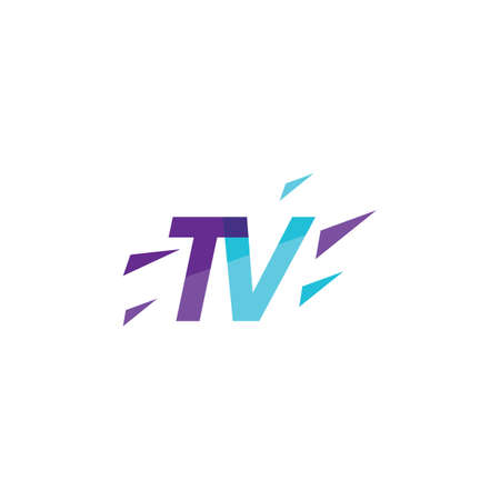 TV logo vector flat design Stock Illustratie