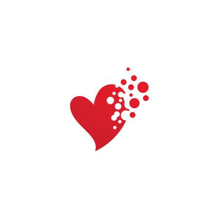 Love logo vector illustration design
