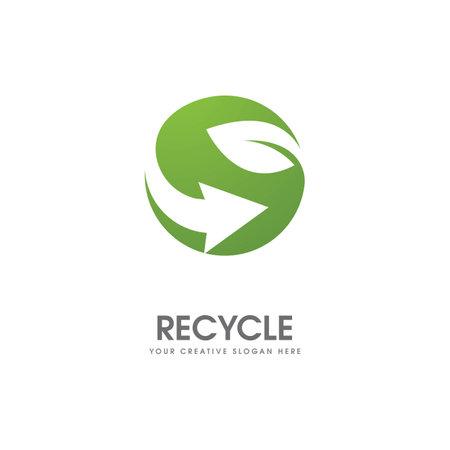 Green leaf illustration nature logo design Stock Illustratie