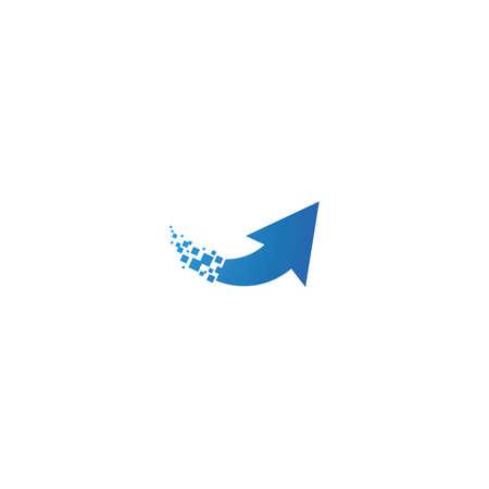Pixel arrow technology logo illustration Stock Illustratie