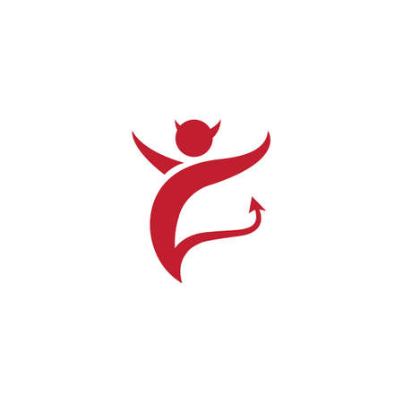 Devil logo ilustration vector template Stock Illustratie
